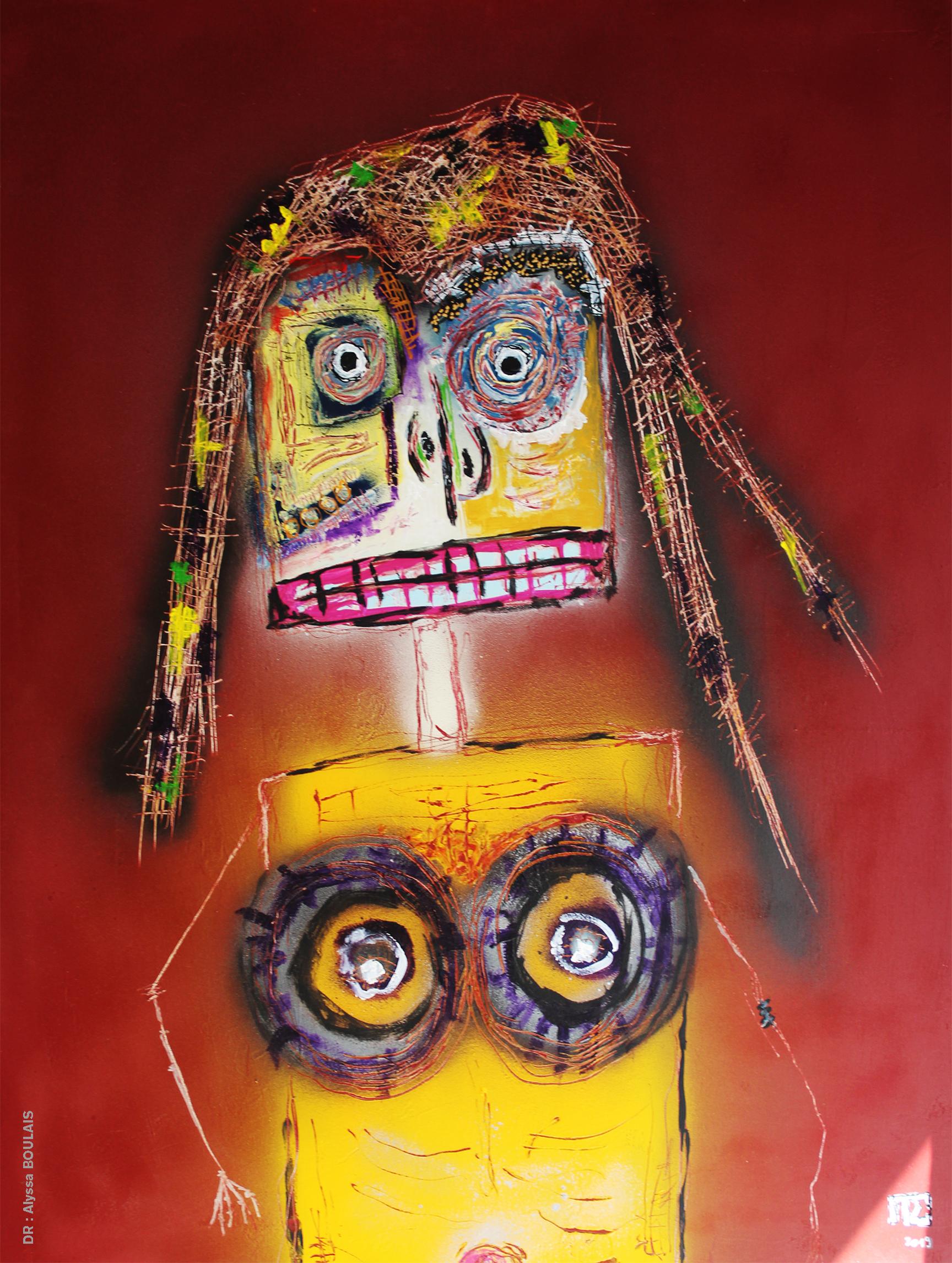 Oeuvre de Pierre SOUFFLET, art brut, peintre amiénois